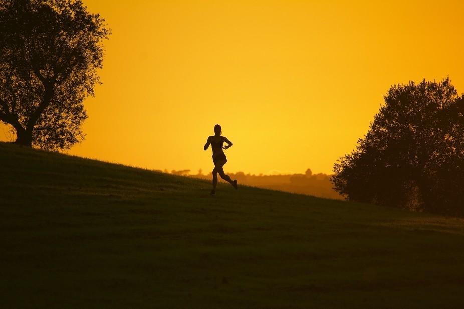 Sunset run era in nature