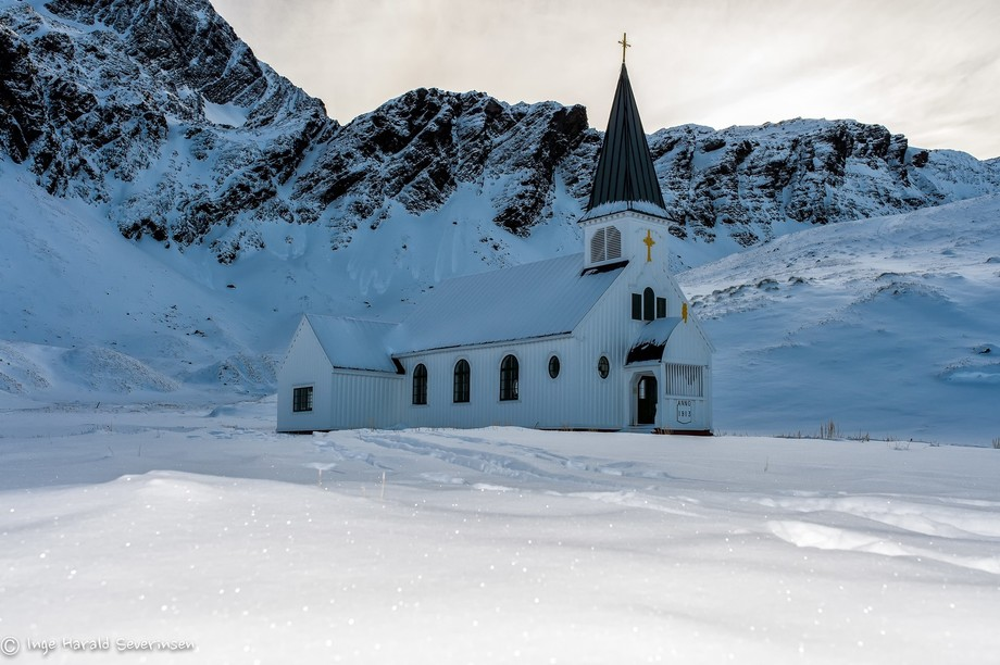 A deserted place. No Christmas service this year. Grytviken South Georgia