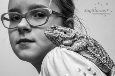 Girl and a lizard