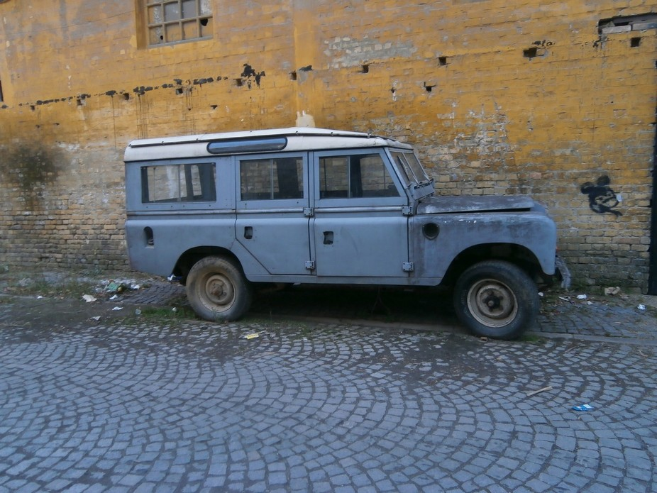 Old and rusty Land Rover Defender