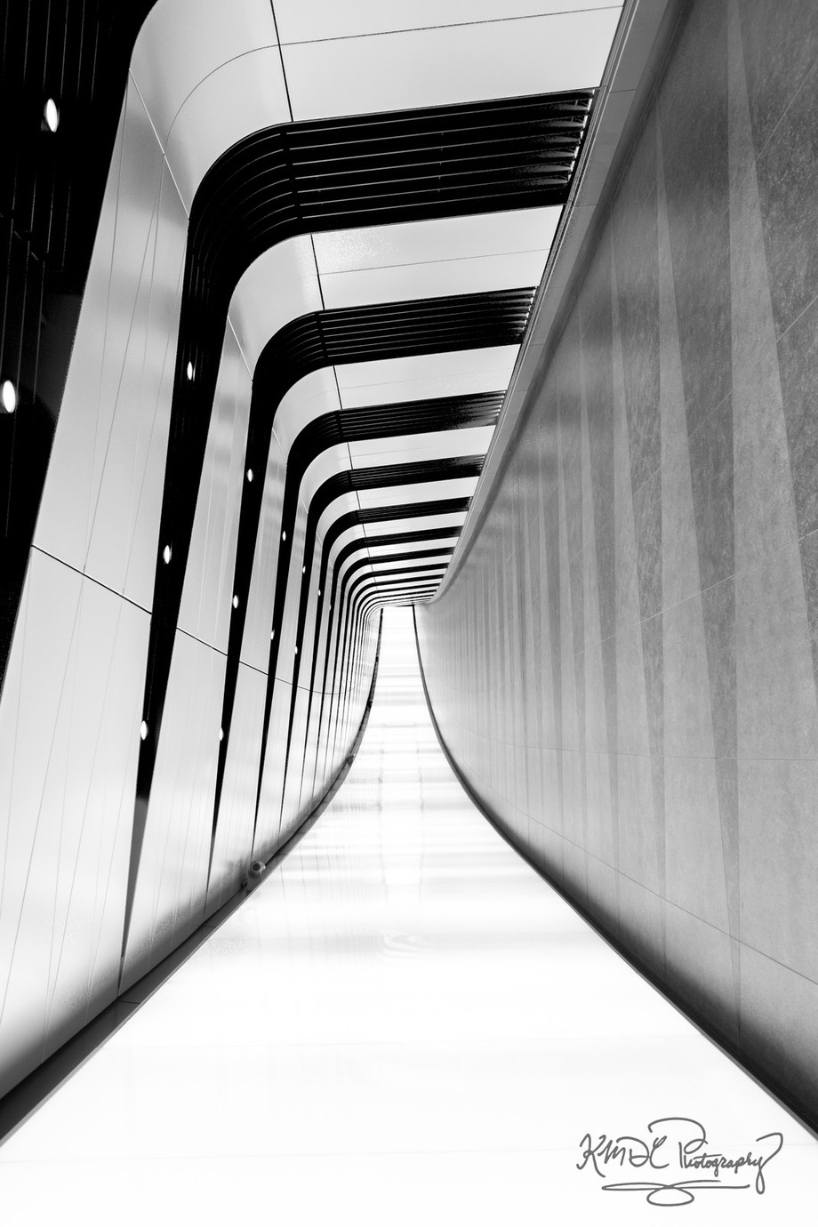 The Tunnel @ Kings Cross, London by KMDCphotography - Black And White Architecture Photo Contest