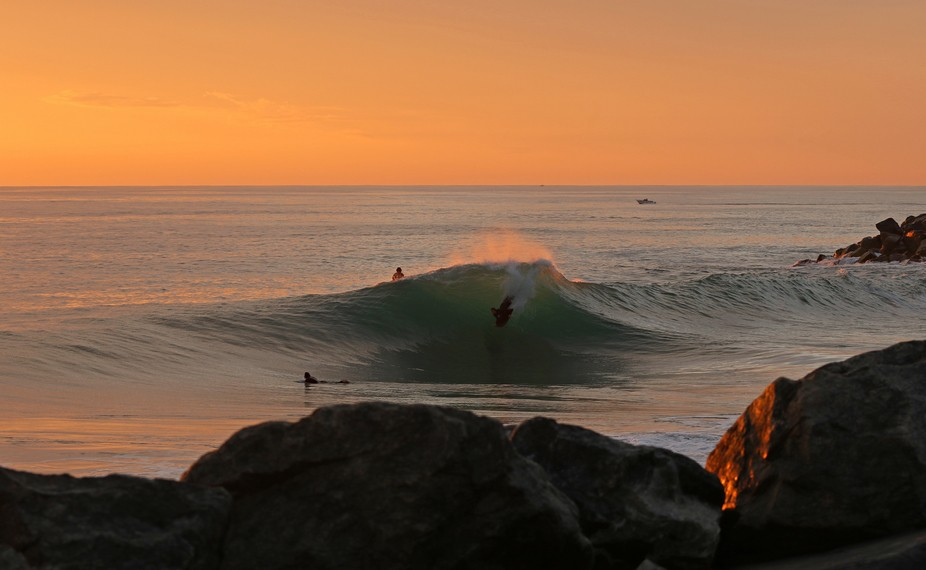 sunset on the last session for the season