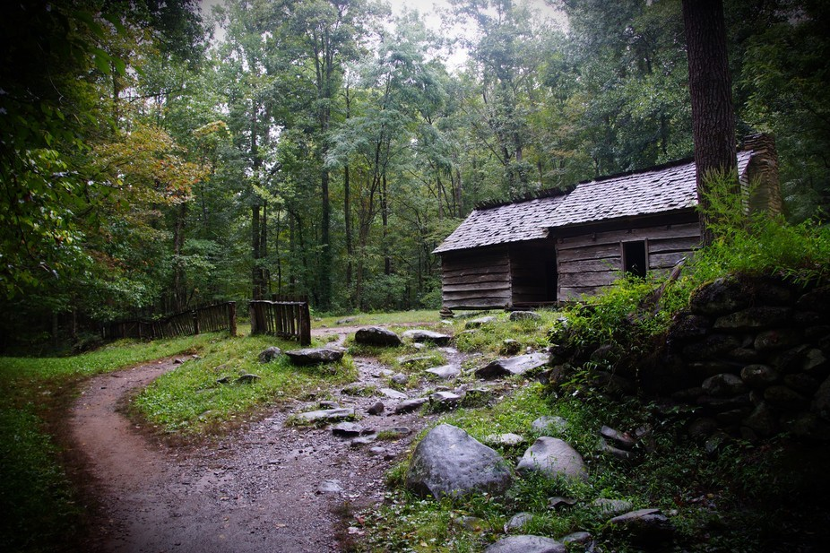 Great Smoky Mountains NP on a rainy day. Before the fires...