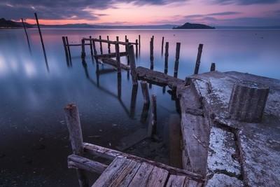 Il vecchio pontile sul lungolago di Montefiascone