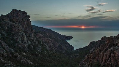 Corsican calanches at sunset (later)