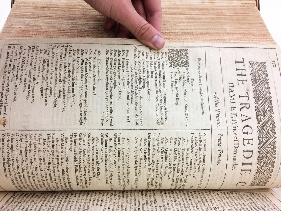 This is one of the original prints of Hamlet by William Shakespeare