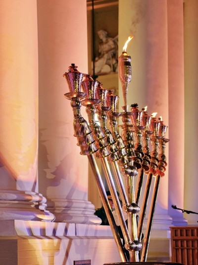 The Menorah on the third day