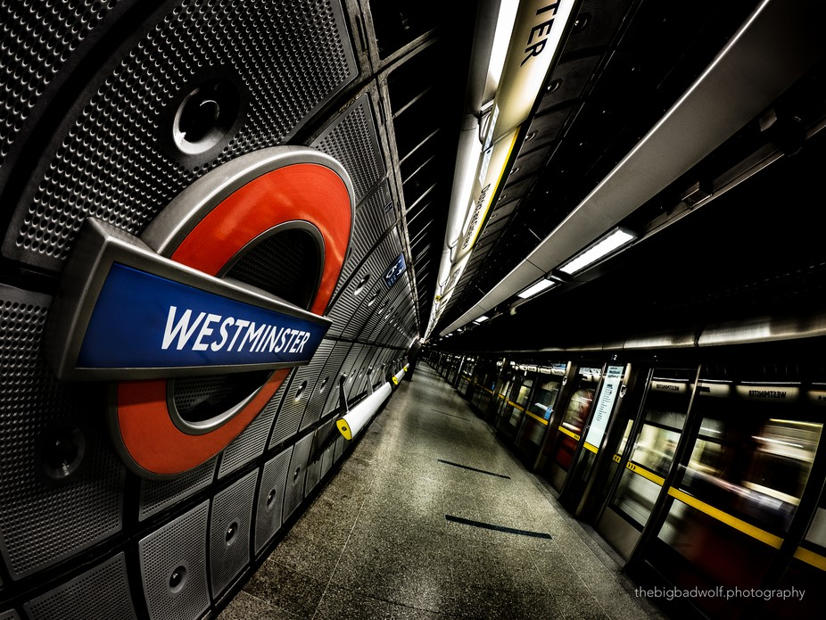 """Westminster tube station, part of my new series """"London tube stations, tunnels &..."""