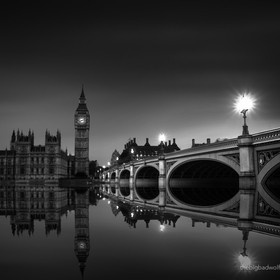 The Houses of Parliament, Big Ben and the Westminster Bridge in B&W.  500px.com/thebigbadwolf www.thebigbadwolf.photography