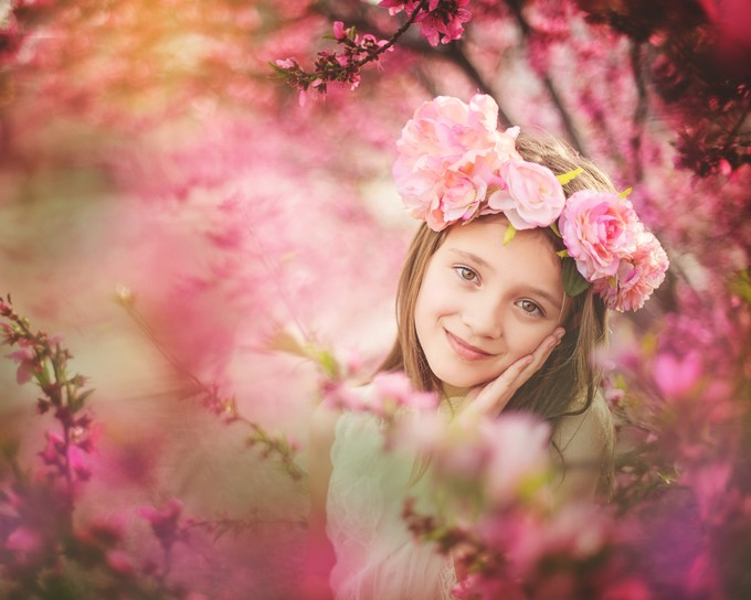 Springtime by beccawohlwinder - Children In Nature Photo Contest