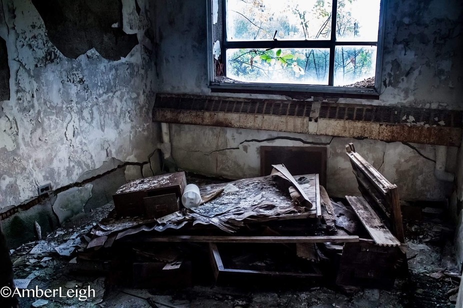 This picture is from an abandoned psych hospital in northville michigan.