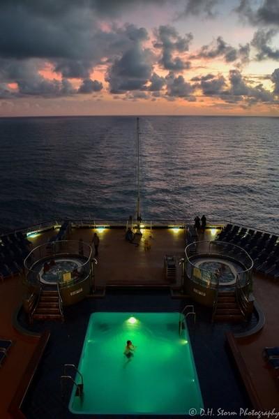 Caribbean Sunset Swim
