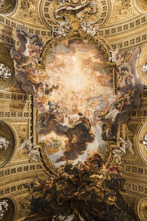Ceiling in Chiesa del Gesù, Rome by LuciaP - Ceilings Photo Contest