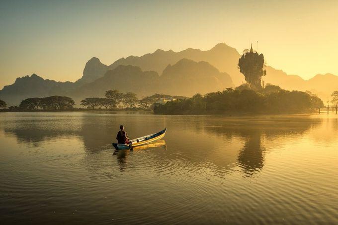Sunrise In Pha-An by zayyarlynn - Celebrating Nature Photo Contest Vol 3