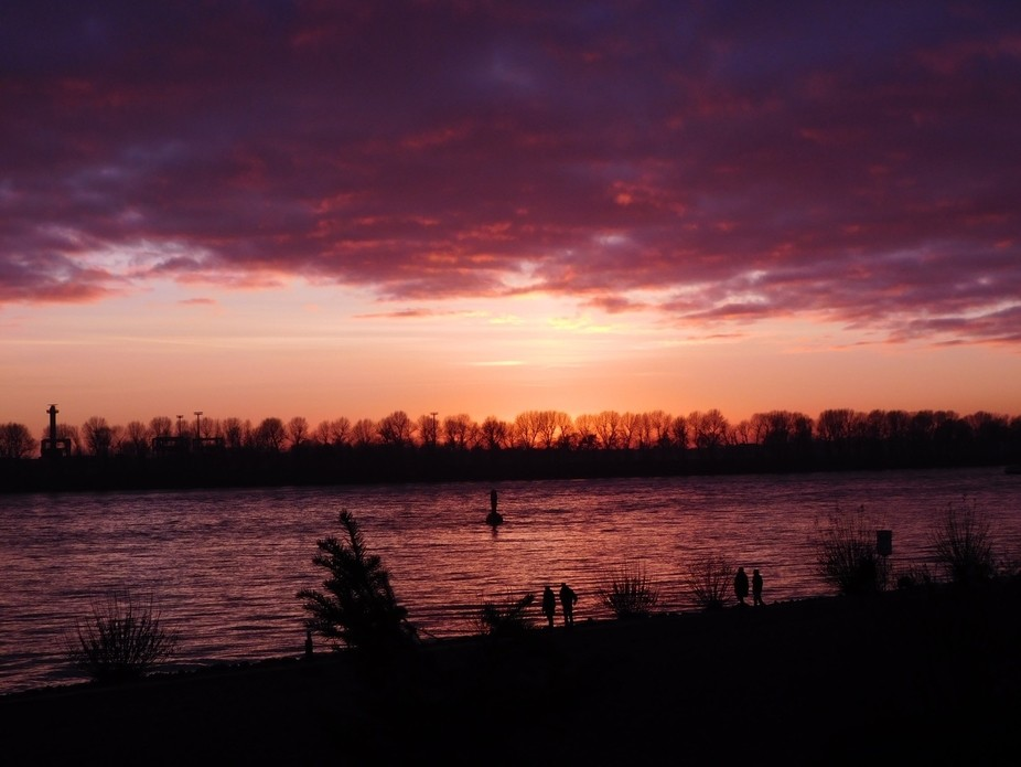 I was in Hamburg and there was a beautiful sunset.