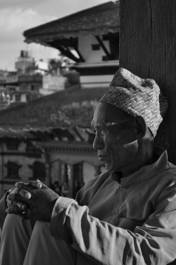 Old man of Durbar Square