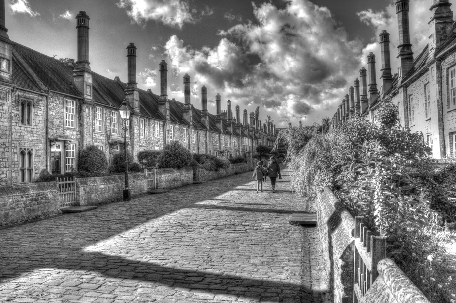 Vicars close in Wells one of the oldest complete streets in the world that is still residential. ...