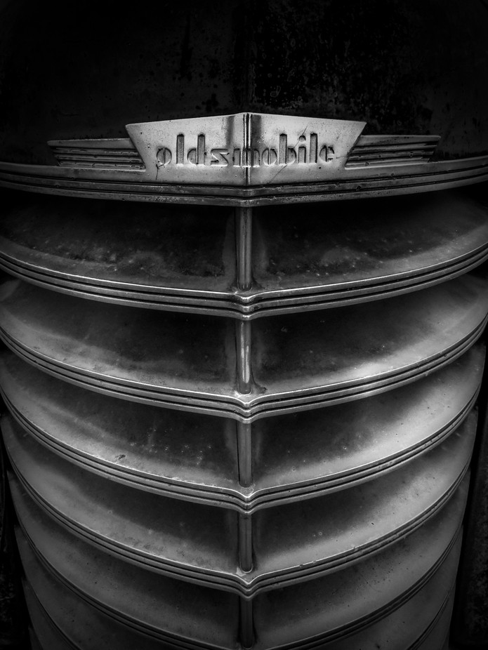 Olds Grille B+W by DanielArrellanes - Trucks Photo Contest