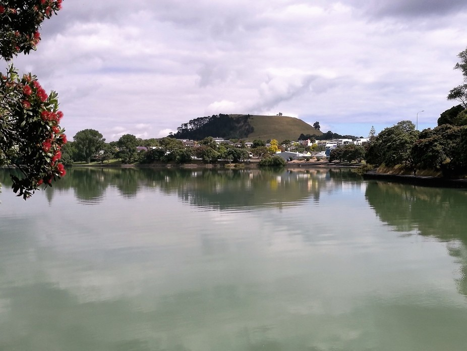 Reflection of Mt Wellington in Panmure Basin