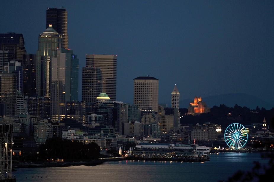 I took this photo from a viewpoint on Magnolia looking down on Seattle WA.  It was one of those n...