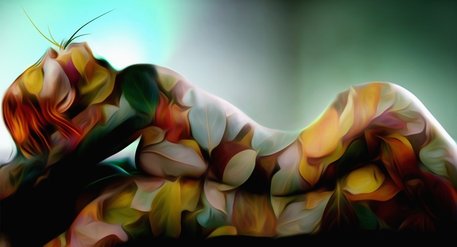 Digital art created with wacom tablet.Using my own brushes,