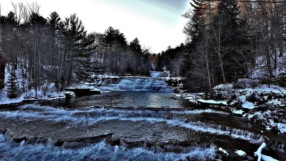 The beautiful falls of Wiscoy, NY