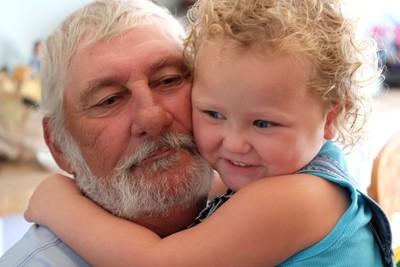 Hugging Papa