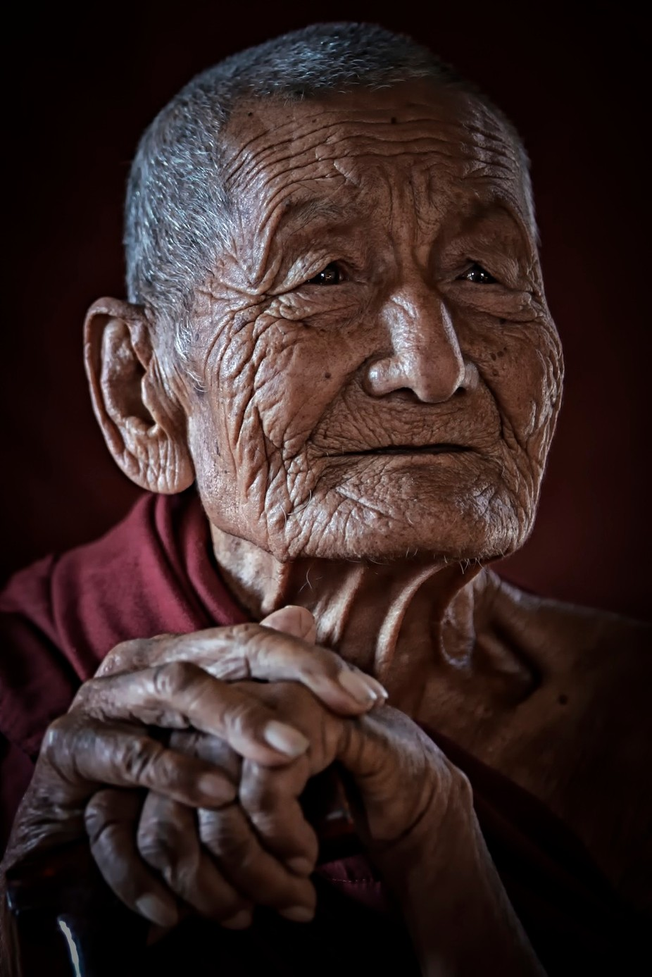 Old buddhist monk  by kevinkaung - Cultures of the World Photo Contest