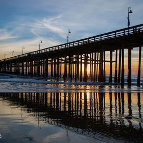 """New Years Day Sunset at Ventura Pier"" The sunsets after the first day of 2017 at the Ventura Pier.  © Sellin Photography All Rights R..."