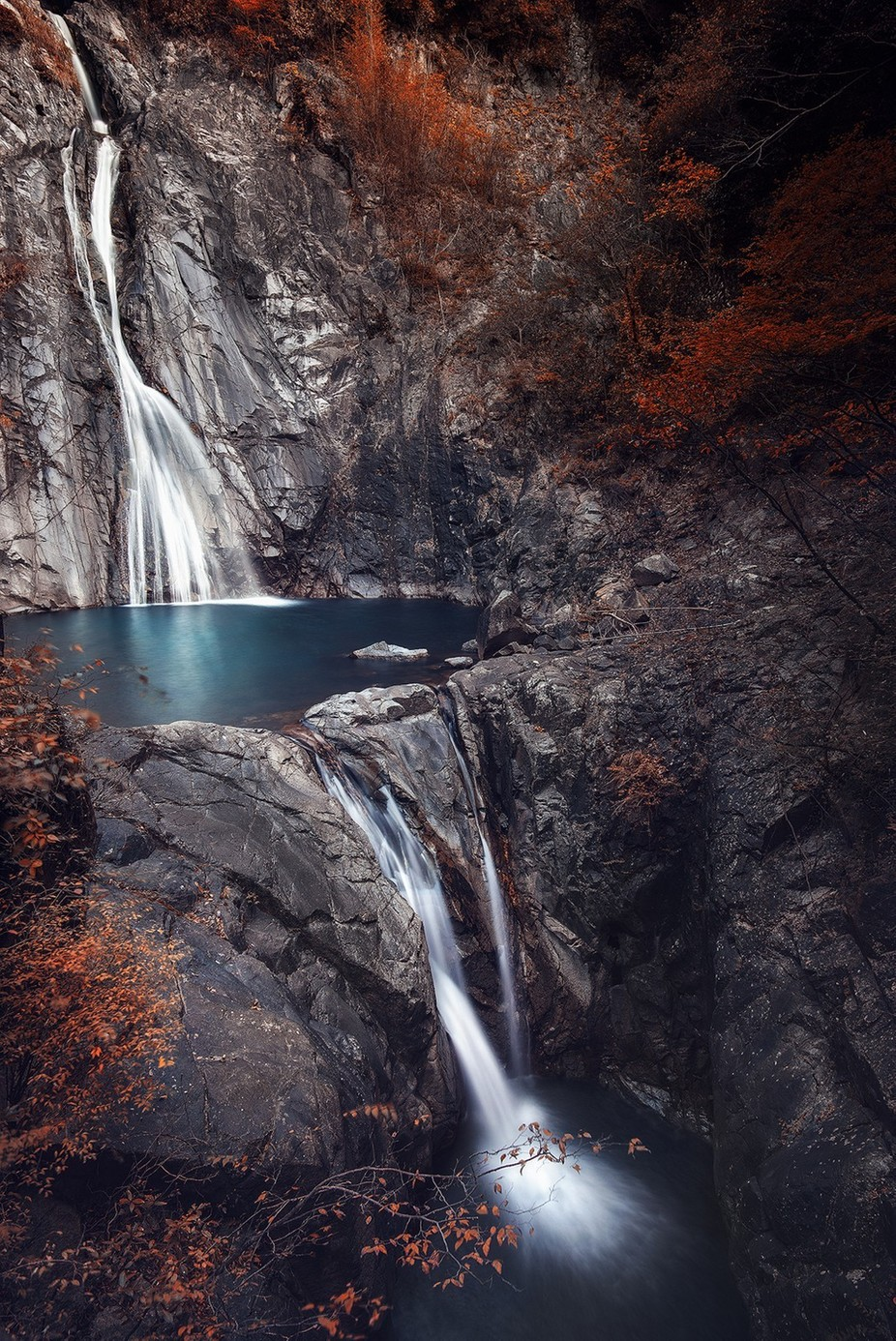 Nunobiki Falls  by carmenioneanu - Capture Running Water Photo Contest