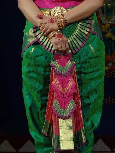 Saree Design of Bharatanatiyam