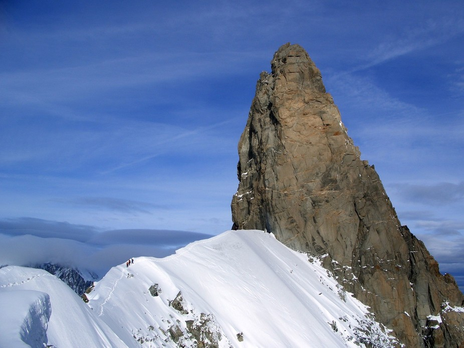 This is one of the three classic snow ridges in the alps.