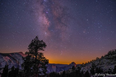 Half Dome and the Milky Way