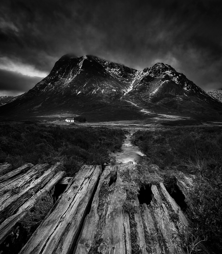 Decaying Path by shahbazmajeed - Black And White Mountain Peaks Photo Contest
