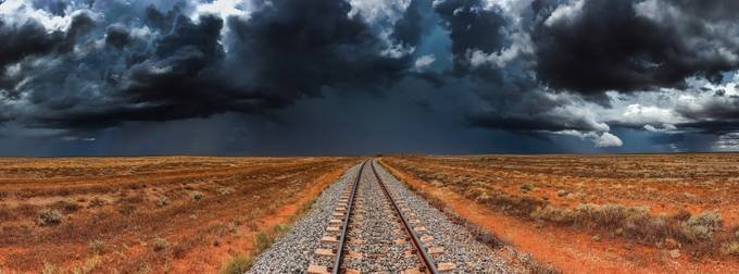 Desert Storm by Ozscapes - Empty Railways Photo Contest