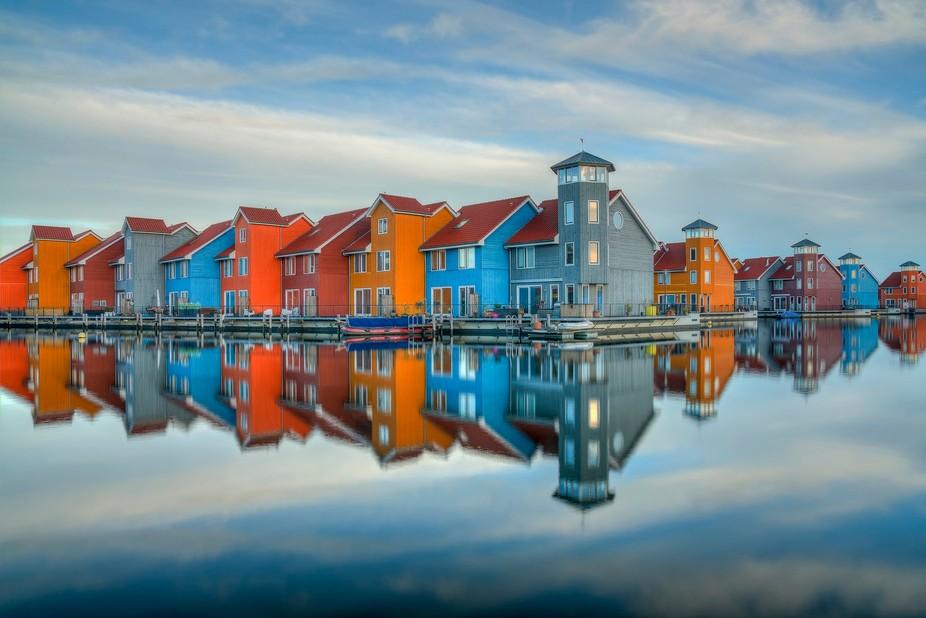 Reitdiephaven in Groningen, The Netherlands