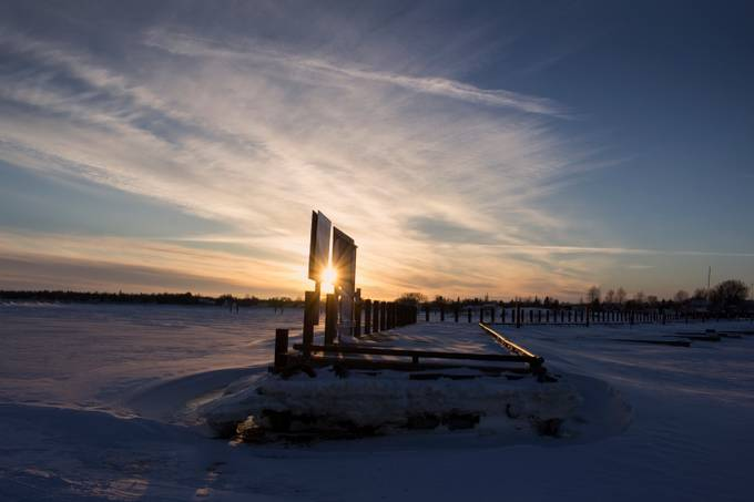 Gimli Harbour Sunset by francislavignetheriault - We Love The Winter Photo Contest