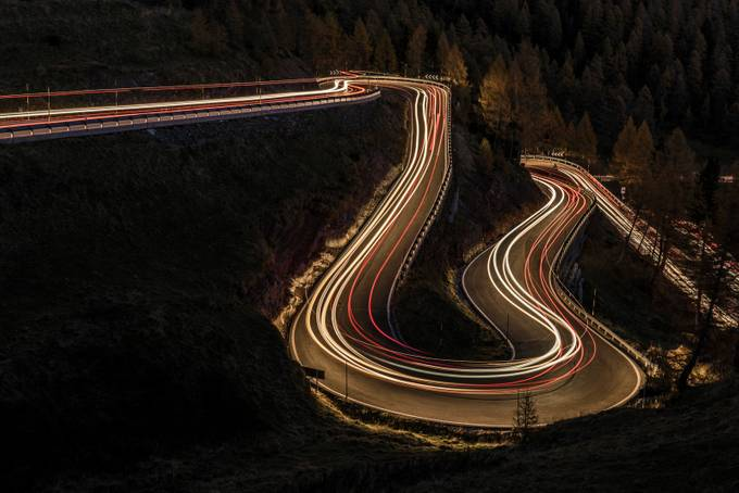 Night on the Passo Rolle by jamesrushforth - Showing Movement Photo Contest