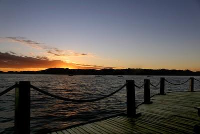 Pontile al tramonto - Jetty at sunset