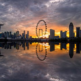 One of the most recognisable skyline in the world is probably the Singapore Flyer skyline.