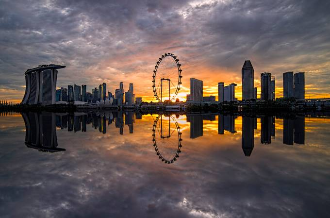 The Singapore Flyer Skyline by GkCM - Image Of The Month Photo Contest Vol 18