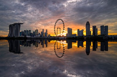 The Singapore Flyer Skyline