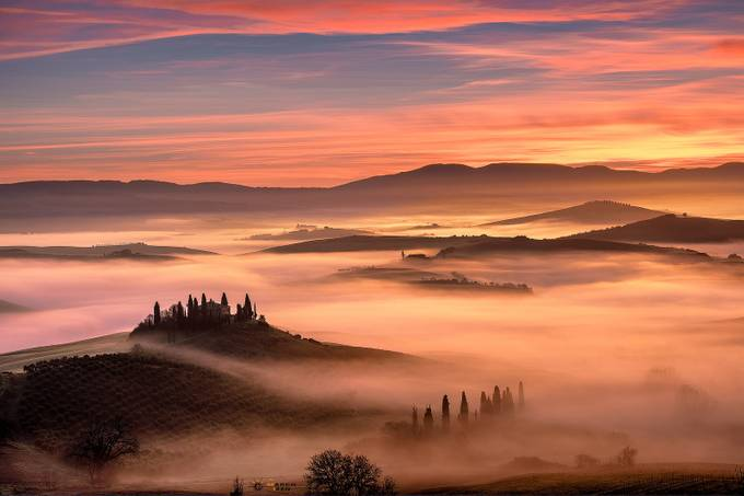 Alba in Val D'Orcia by marcoizzo - Image Of The Month Photo Contest Vol 18