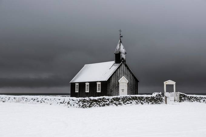 The black church of Budir by jamesrushforth - Towns In The Winter Photo Contest
