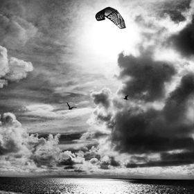 Kiteboarding on the island of Hatteras in Pamlico Sound is one of my favorites activities to watch. OBX is simply one of the best places to enjoy it.