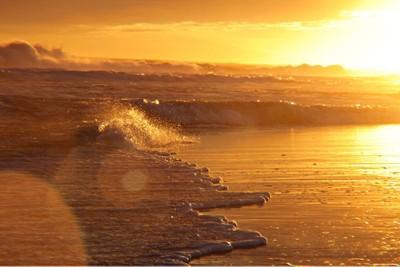 Shimmering shore