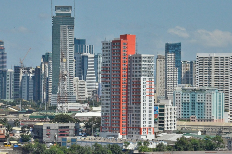 While house hunting in Manila...this view presented itself from the window of the condo we looked...