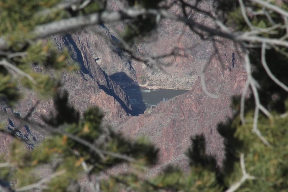Bottom of grand Canyon.  Colorado River.