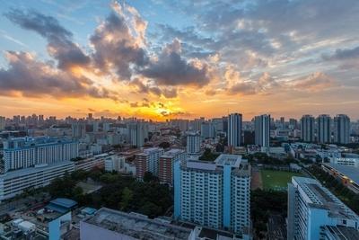 Sunset above Singapore