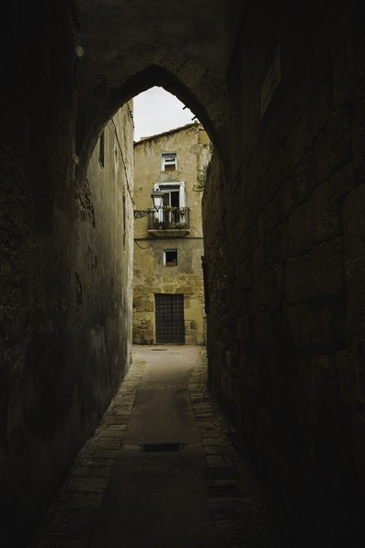 old side street..